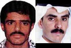 Khallad bin Attash (left) and Khalid Almihdhar (right) were apparently confused by the CIA.