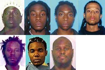 The Miami Seven. Group leader Narseal Batiste is on the bottom right.