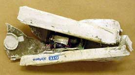 A GTE Airfone recovered from the debris of Flight 93 in Pennsylvania.