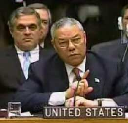 Colin Powell and George Tenet, at the UN presentation.