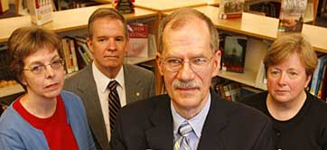 The Connecticut Four, from left to right: Janet Nocek, Peter Chase, George Christian, and Barbara Bailey.