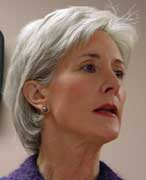 Kansas Governor Kathleen Sebelius.