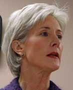 Kansas Governor Kathleen Sebelius.