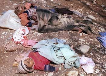 Kurds gassed in Halabja.