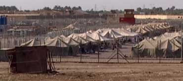 Many detainees in Abu Ghraib are being held in poorly guarded and provisioned tents during this time.