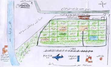 A map drawn by one of the defectors, showing his version of the Salman Pak facility.