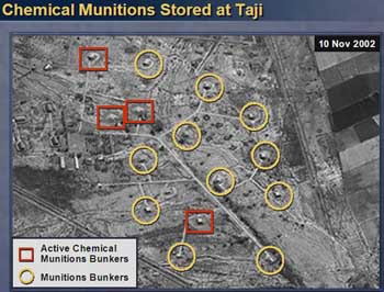 Aerial photo of Iraqi chemical munitions facility.