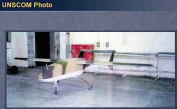 UNSCOM photo of an Iraqi unmanned aerial vehicle.
