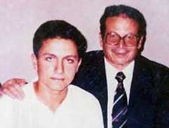 A young Mohamed Atta with his father.