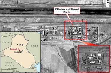 Fallujah II chemical plant.