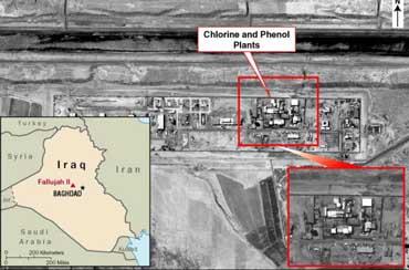 Fallujah II chemical plant.