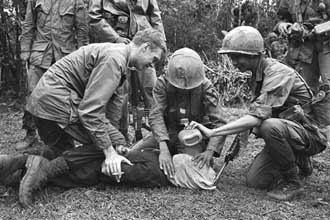 This picture of US soldiers supervising the waterboarding of North Vietnamese prisoners was published in a US newspaper in 1968, resulting in an investigation and convictions.