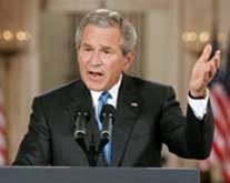Bush acknowledging the secret CIA prison network.