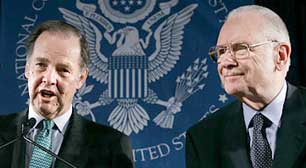 Kean (left) and Hamilton (right) of the 9/11 Commission.