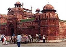 The Red Fort in Delhi, India, shortly after being attacked in 2000.