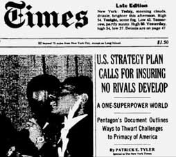 The New York Times headline on March 8, 1992.