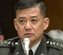 General Shinseki testifying before the Senate, February 2003.