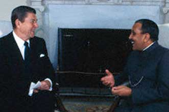 Ronald Reagan and Pakistani dictator Zia ul-Haq.