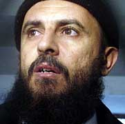 Jamal al-Badawi in a Yemeni prison in 2005.