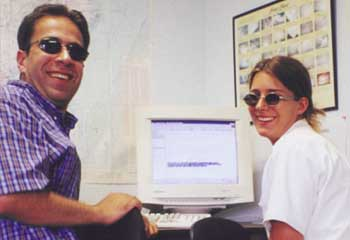 Ziad Jarrah (left) at his flight school in the second half of 2000.