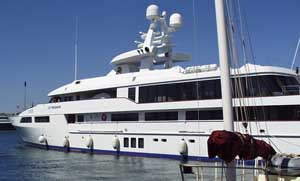 Ghaith Pharon&#8217;s yacht, photographed in 2005.