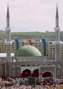 The King Fahd Mosque in Sarajevo, Bosnia.