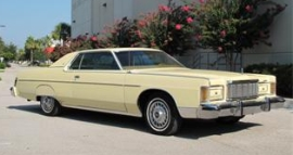 A 1977 Mercury Marquis similar to that owned by Timothy McVeigh.