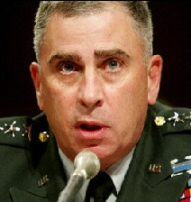 General John Abizaid testifies before the Senate Armed Forces Committee.