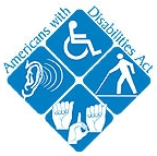 Unofficial Americans with Disabilities Act logo.