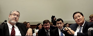 David Addington and John Yoo before the House Judiciary Committee.