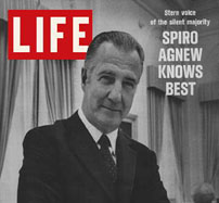 Life Magazine cover featuring Agnew.
