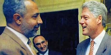 President Clinton meeting with Abdulrahman Alamoudi in the 1990s.