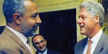 President Clinton meeting with Abdulrahman Alamoudi in the 1990s.