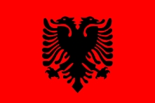 Albanian flag.