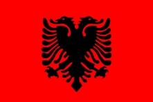 Albanian flag.