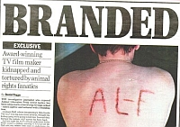 Graham Hall&#8217;s back, branded with the letters ALF.
