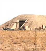 A 1996 photograph of one of the Al Qaqaa storage bunkers.