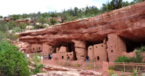 A portion of an Anasazi cliff village in Manitou Springs, Colorado.