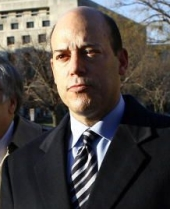 Ari Fleischer, outside the courthouse where the Libby trial is underway.