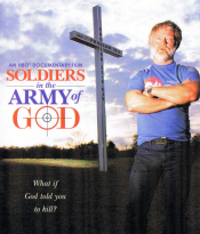 DVD cover illustration of the film 'Soldiers in the Army of God.'
