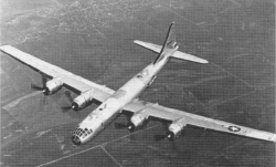 A B-29 bomber similar to the one that crashed in Georgia.
