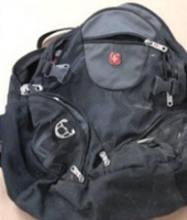 An FBI photograph of the backpack containing the bomb.