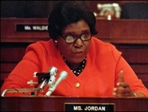 Barbara Jordan speaking before the House Judiciary Committee.