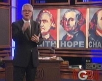 A screenshot from Glenn Beck&#8217;s final show.