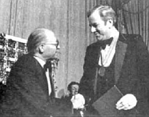 Menachem Begin and Jerry Falwell.
