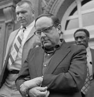 Accused Watergate burglar Bernard Barker after being arraigned in June 1972.