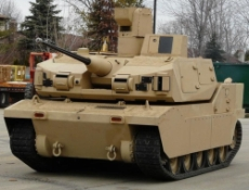 A Bradley fighting vehicle.