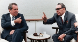 Richard Nixon and Leonid Brezhnev, 1972.