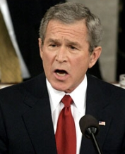 President Bush during his State of the Union address.