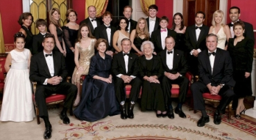 A Bush family photo taken during the inaugural ceremonies.